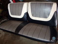 Vintage Chevy car seats, classic Chevrolet auto seats, vintage Chevy interior upholstery, antique Chevy car seats, classic Chevy car front seats & back seats