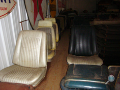 Classic Chevrolet auto seats, vintage Chevy car seats, antique Chevy car seats, vintage Chevy interior upholstery, classic Chevy car front seats & back seats