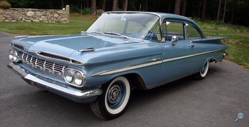 1959 Chevrolet Bel Air 2-Door Sedan, restored vintage Chevy show car