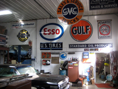 Vintage Chevy auto parts warehouse, classic Chevy car NOS replacement parts, vintage Chevrolet car parts, engines, fenders, hoods