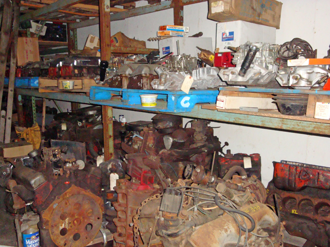 Vintage Chevy auto parts warehouse, classic Chevrolet car parts ...