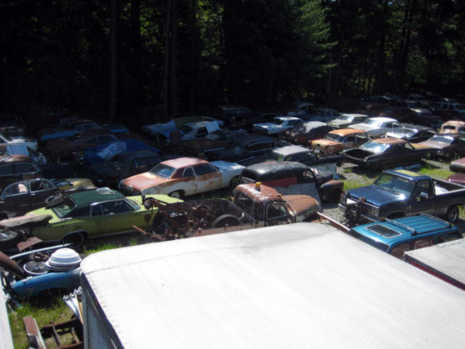 Vintage Chevy auto parts yard, vintage Chevy car parts