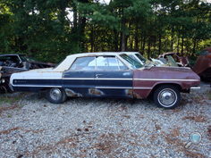 Vintage Chevy auto parts yard, vintage Chevy car parts junkyard